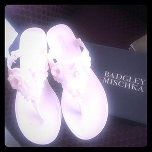 Badgley Mischka flip flops